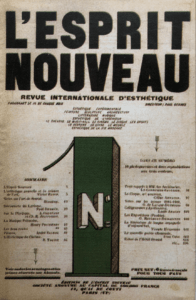 N°1 de la revue L'Esprit Nouveau, 1920