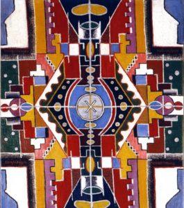 Art ornemental, période de Barcelone, 1916, Huile sur toile, 55 X 46 cm