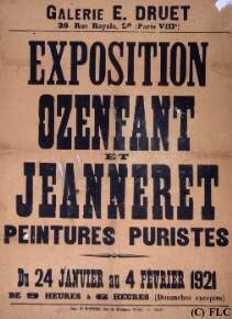 Exposition Ozenfant & Jeanneret, Galerie Druet, 1921