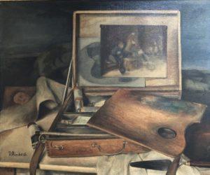 La boîte de peintures, 1924, Huile sur toile, 46 X 55 cm