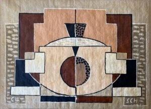 Cubisme ornemental, 1922, Huile sur toile, 22 X 31 cm