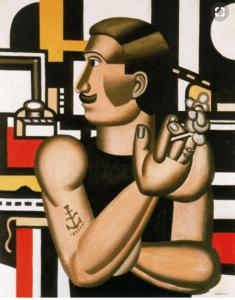 Fernand Léger, Le mécanicien, 1920, Huile sur toile, 65 x 54 cm