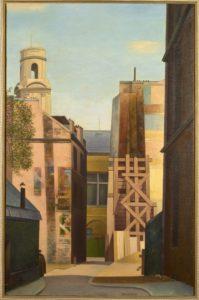 Rue Pape Carpentier, 1930, huile sur toile, 92 X 60 cm. Collection Guénégan
