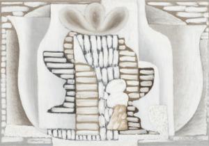 Nature morte puriste, 1925-1926, Huile sur toile double face, 50,4 X 72 cm