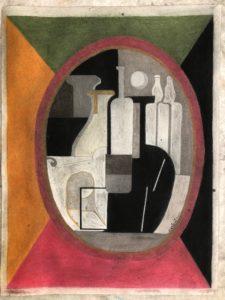 Composition dans un ovale, 1928, Pastels sur papier, 40 X 30 cm