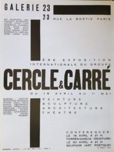 Affiche de l'exposition Cercle & Carré, Galerie 23, Paris, 1930