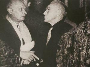 Charchoune et Lanskoy, 1971 - Vernissage Rétrospective Charchoune - Musée National d'Art Moderne, Paris