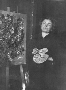 Photographie de Séraphine Louis par Mademoiselle Anne-Marie Uhde, circa 1928