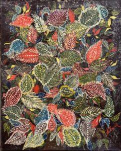 Bouquet de feuilles, circa 1930 - Huile sur toile, 40 X 30 cm