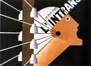 Cassandre, affiche publicitaire pour le journal L'Intransigeant, 1925