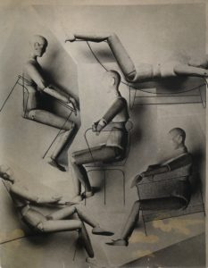 Charlotte Perriand, 1928, Etude sur mannequins en bois