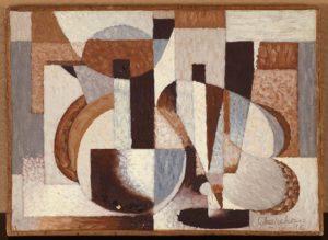 Composition, 1946, Huile sur toile, 60 X 73 cm Collection particulière