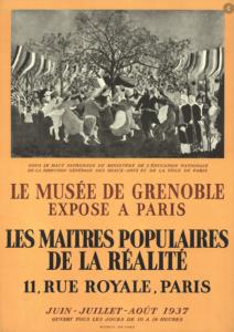 Les Maîtres Populaires de la Réalité, Exposition 1937 organisée par le musée de Grenoble à Paris, Zurich, New York