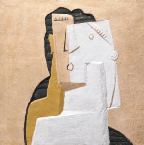 Henri Laurens, Tête de boxeur, 1920, Technique mixte sur panneau, 24,4 X 24,7 cm, Tate Modern Gallery, Londres