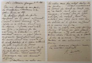 Lettre de René Mendès-France à Pierre Guénégan, décembre 1976, ©archives P.Guénégan