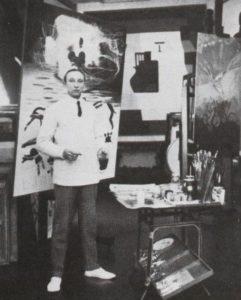 Amédée Ozenfant dans son atelier, avenue Reille à Paris, 1930