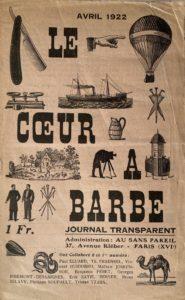 Revue dada Le Coeur à Barbe, 1922, ©archives P. Guénégan