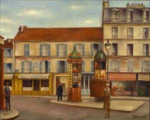 Porte de Vanves, 1922, Huile sur toile, 33 X 41cm